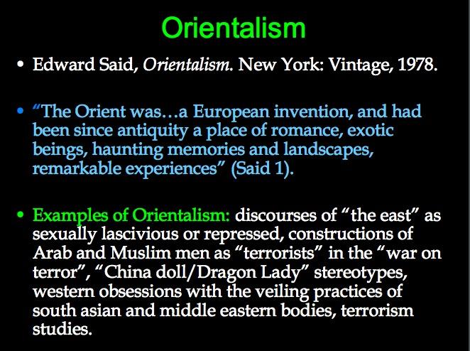 Orientalism Edward Said Definition
